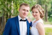 Свадебная фотосессия в гостинице и парке