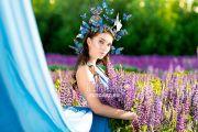 Новая фотосессия в люпинах с бабочками в Кирове