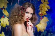 Осенняя фотосессия в фотостудии