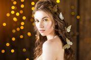 Фотосессия девушки с бабочками в фотостудии Кирова