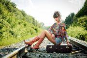 Фотосессия на железной дороге в Кирове