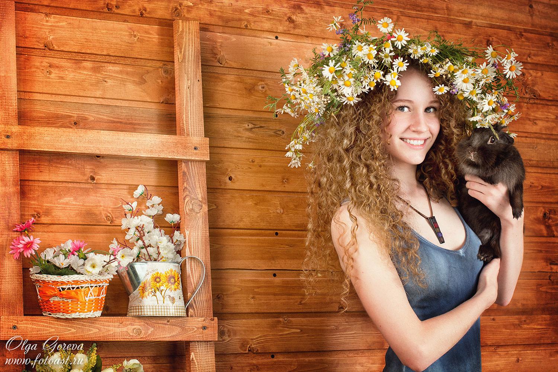Фотосессия летом в студии москва